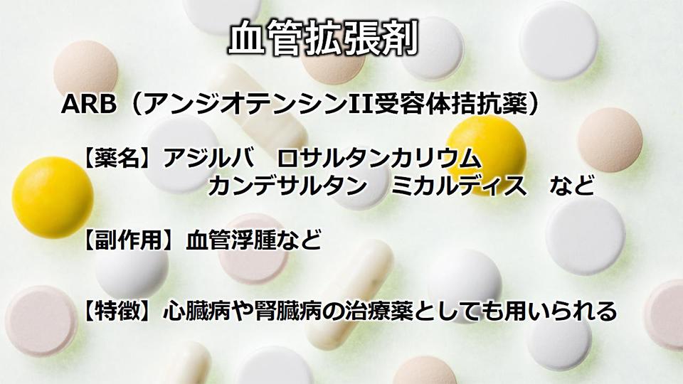 ARB(アンジオテンシンⅡ受容体拮抗薬)